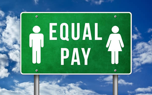 Equal Pay - gender pay gap stock photo