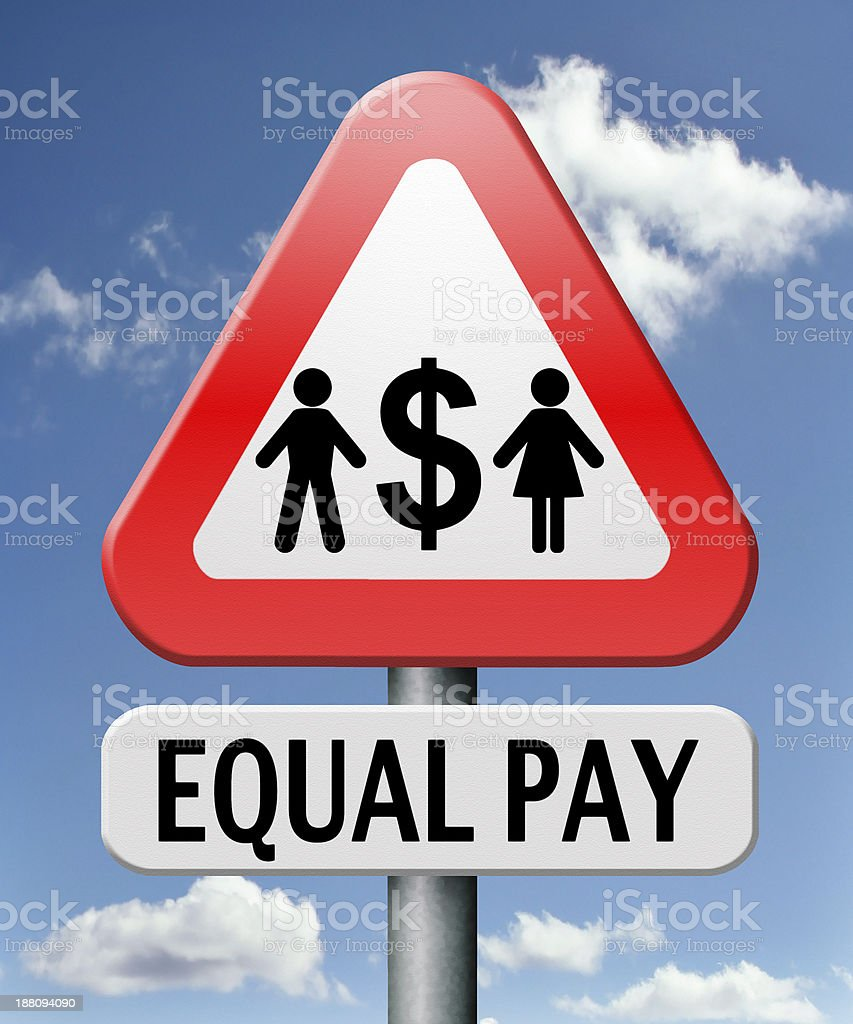 equal pay royalty-free stock photo