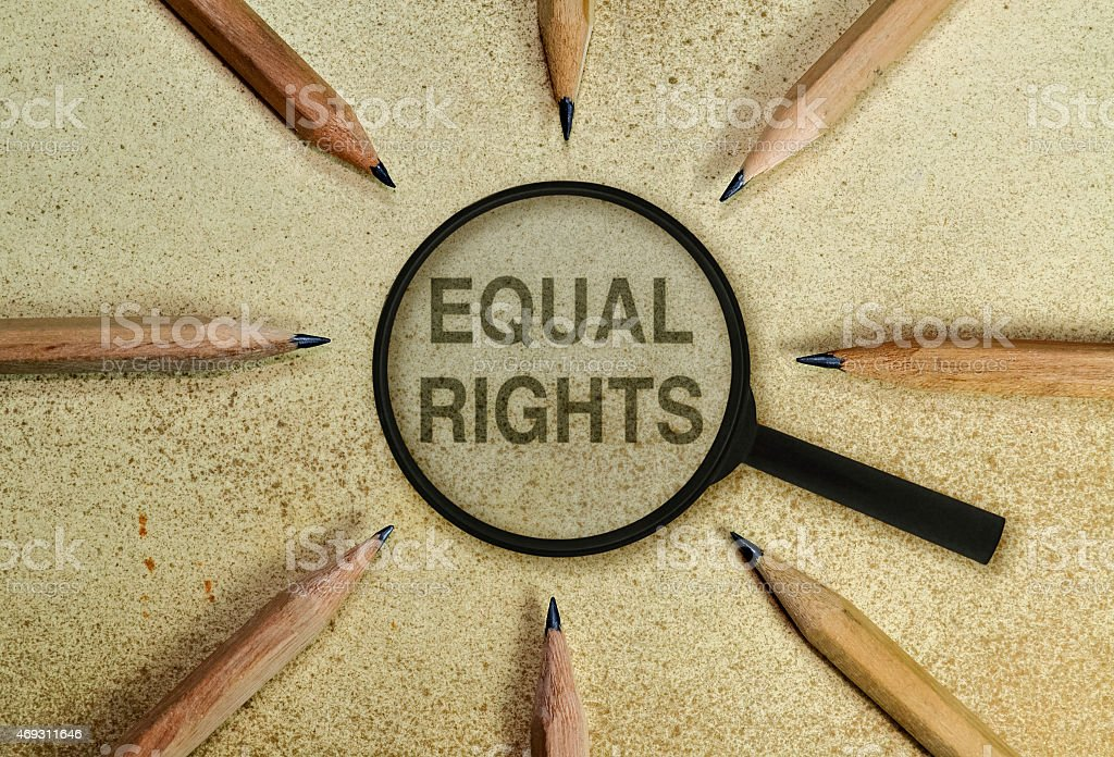 Equal rights stock photo