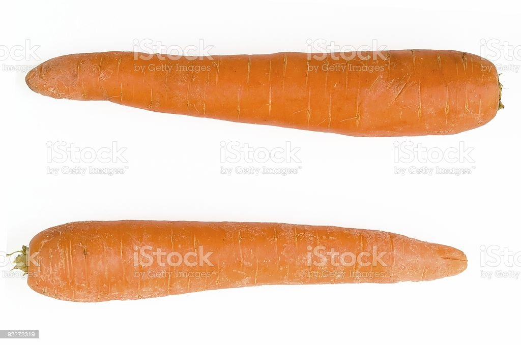 equal sign. carrot royalty-free stock photo