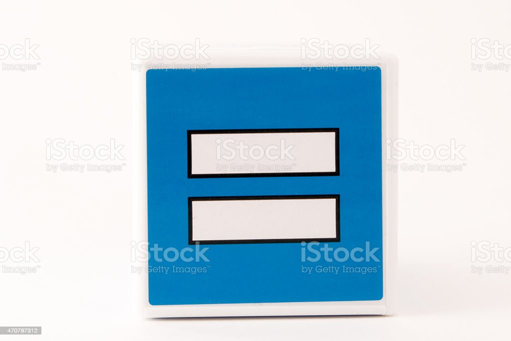 Equal Sign Child's Building Block stock photo