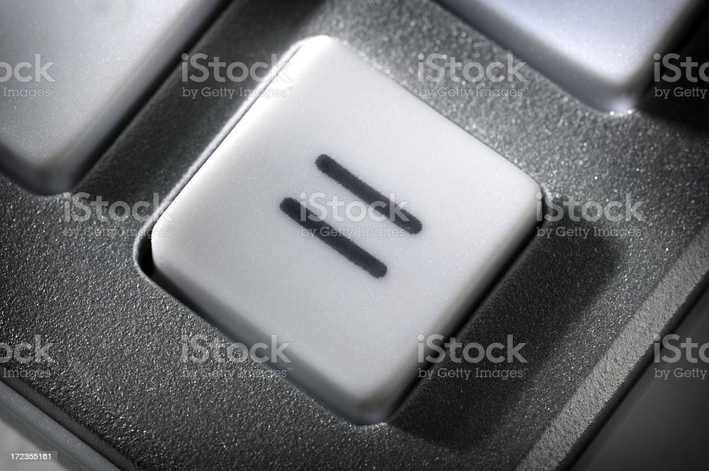 Equal Sign stock photo