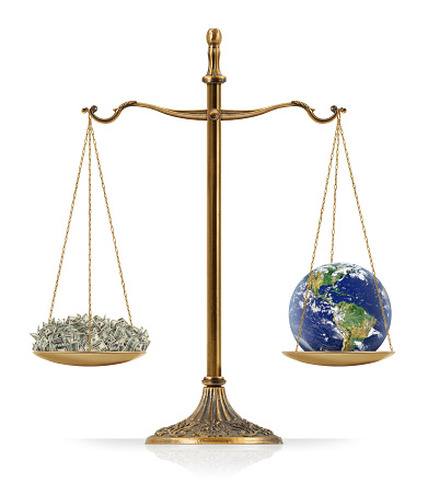 Equal Weighted Money And Earth Stock Photo - Download Image Now
