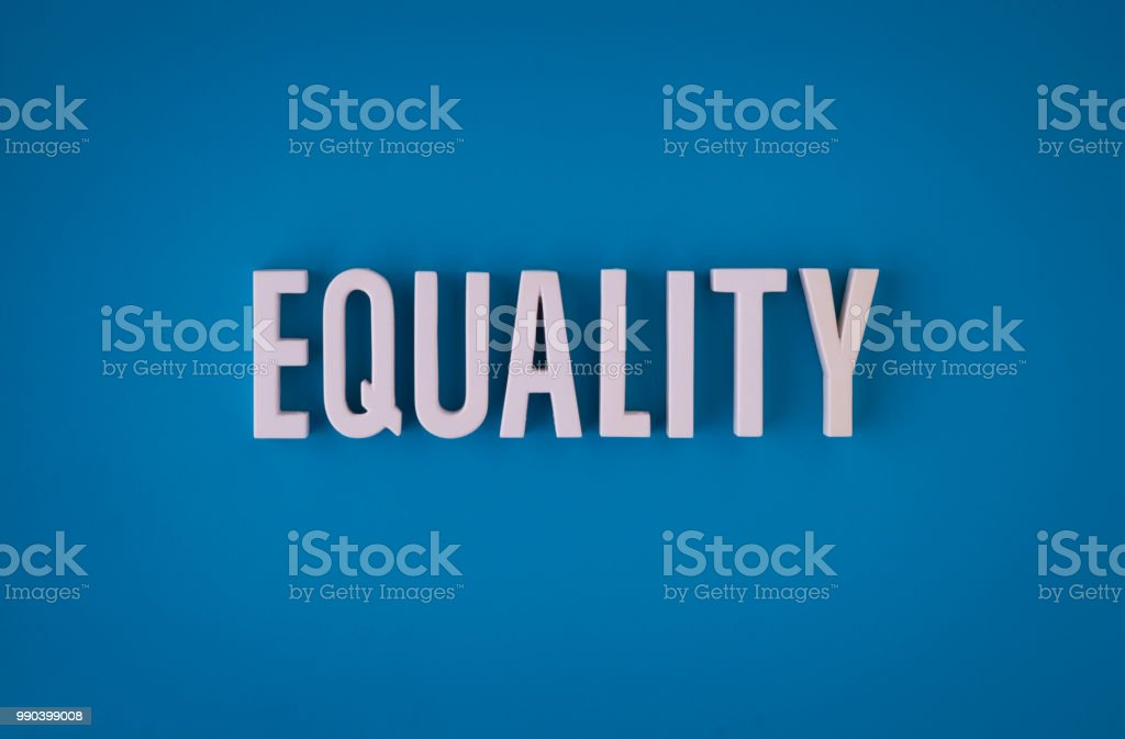 Equality lettering sign stock photo