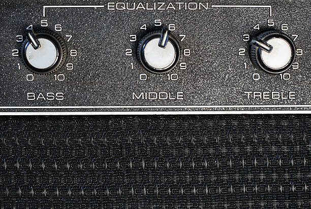 equalization knobs stock photo