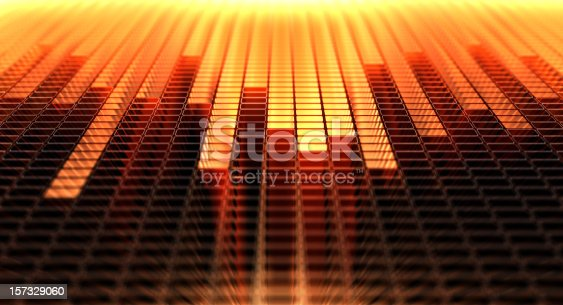 3d background with equaliser pattern