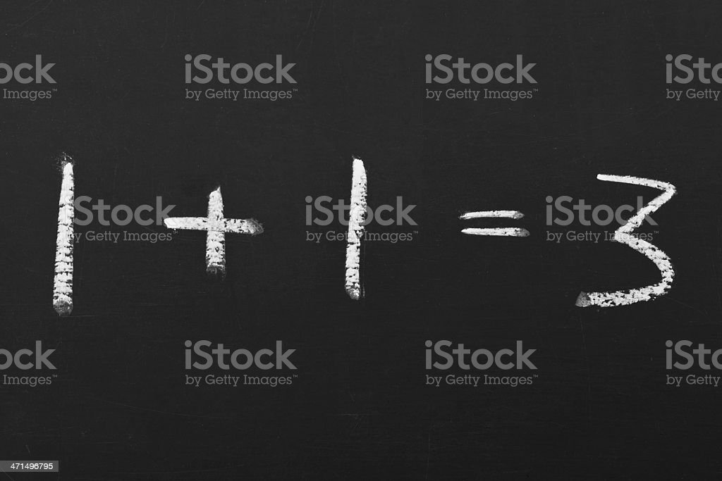 equation on a chalkboard royalty-free stock photo