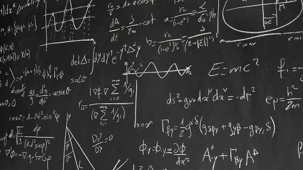 Equations on blackboard Various mathematical and physical formulas on a blackboard arithmetic stock pictures, royalty-free photos & images