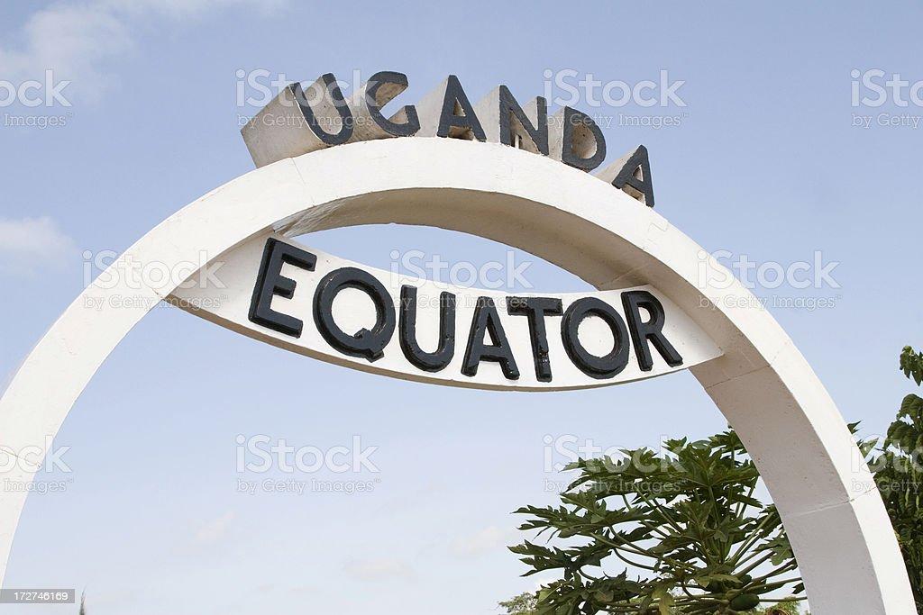 Equator in Uganda Crossing the Equator line at Wavah in Uganda. Africa Stock Photo