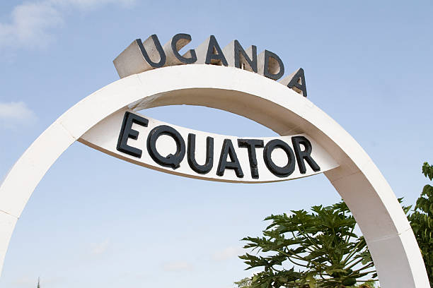 Equator in Uganda Crossing the Equator line at Wavah in Uganda. equator stock pictures, royalty-free photos & images