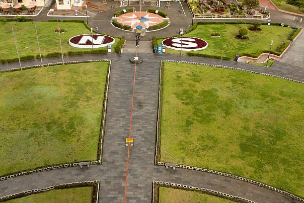 Equator line in Quito Ecuador  equator stock pictures, royalty-free photos & images
