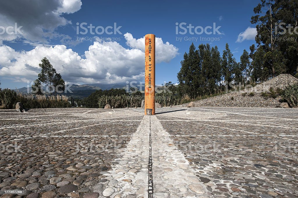 """Equator Line Monument, Cayambe, Ecuador """"Monument marks the point through which the equator passes, Cayambe, Ecuador"""" Andes Stock Photo"""