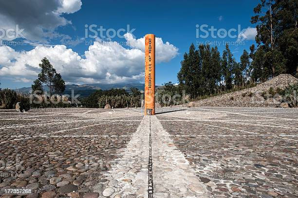 Equator Line Monument Cayambe Ecuador Stock Photo - Download Image Now