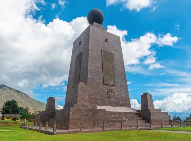 Equator Line Monument, Quito, Ecuador stock photo