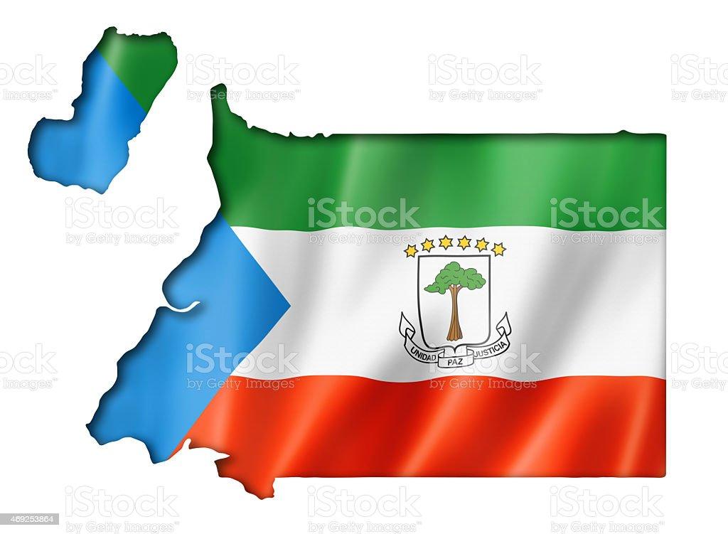 Equatorial Guinea flag on a map stock photo