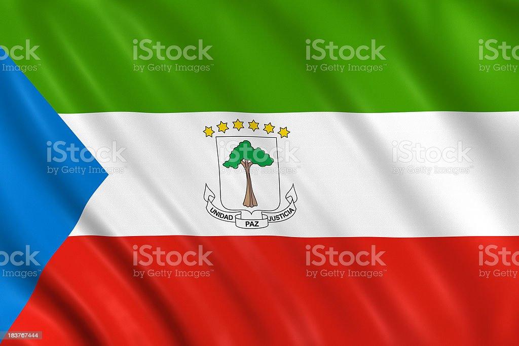 equatorial guinea flag stock photo
