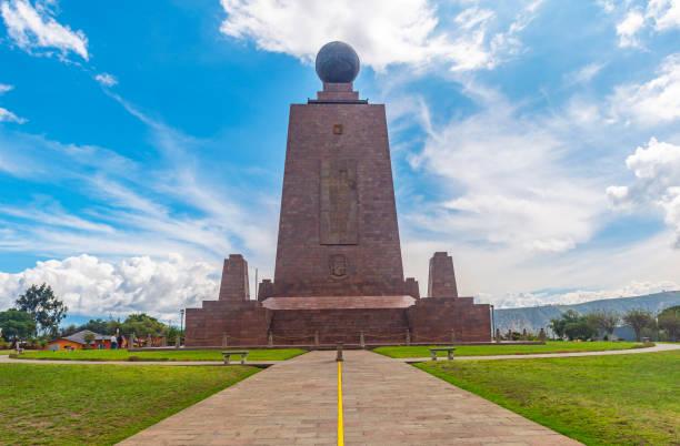 Equatorial Line Monument, Quito, Ecuador stock photo