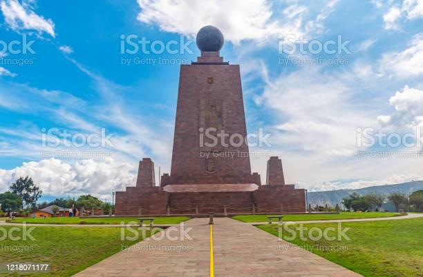 Equatorial Line Monument Quito Ecuador Stock Photo - Download Image Now