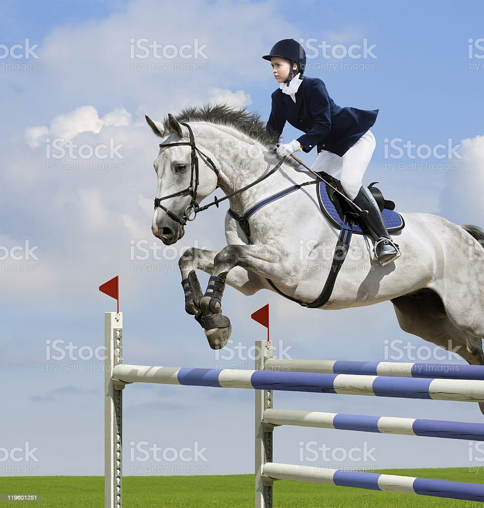 Equestrian jumper royalty-free stock photo