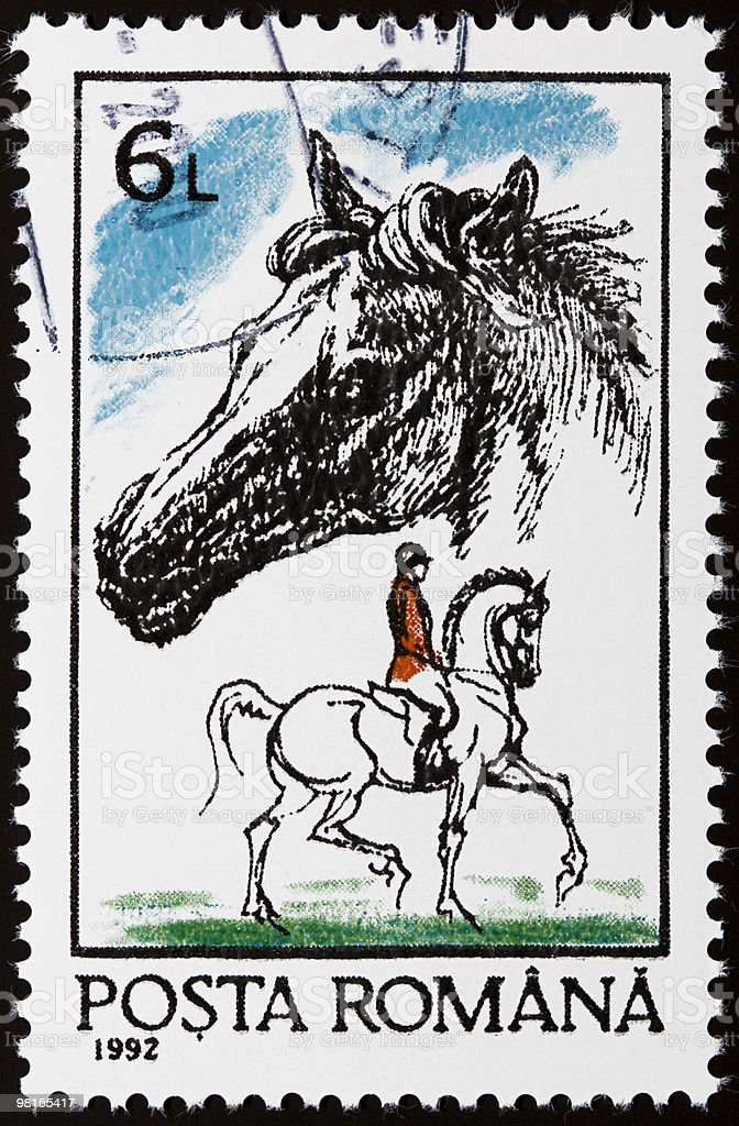 Equestrian stamp royalty-free stock photo
