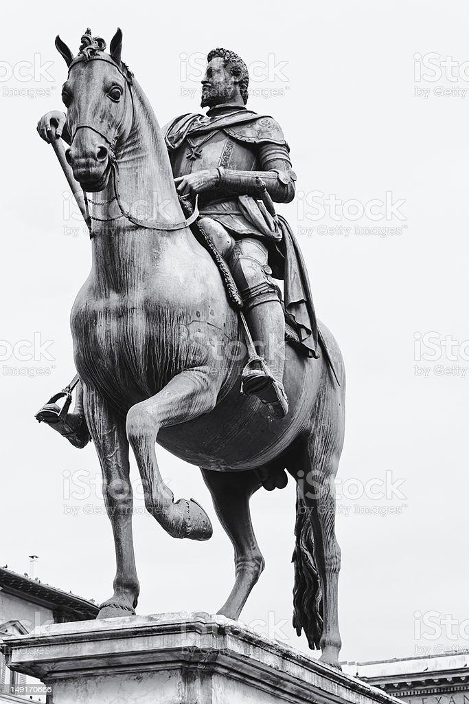 Equestrian statue of Ferdinando I, Florence stock photo