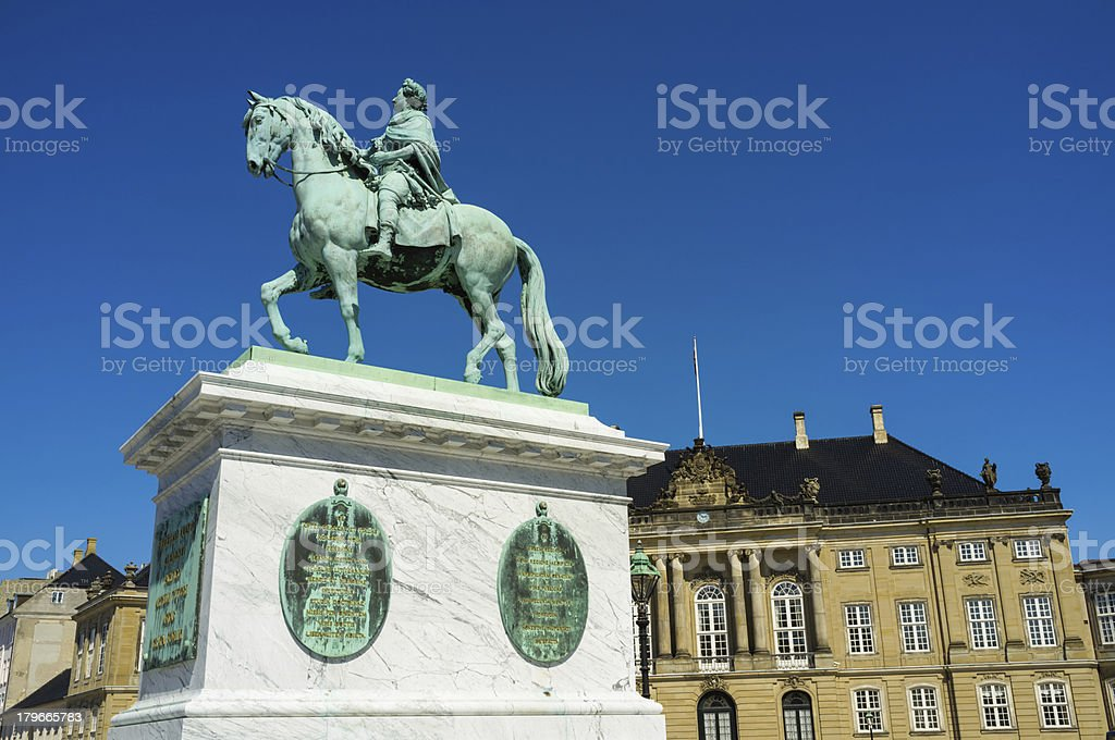 Equestrian statue of Frederick V royalty-free stock photo