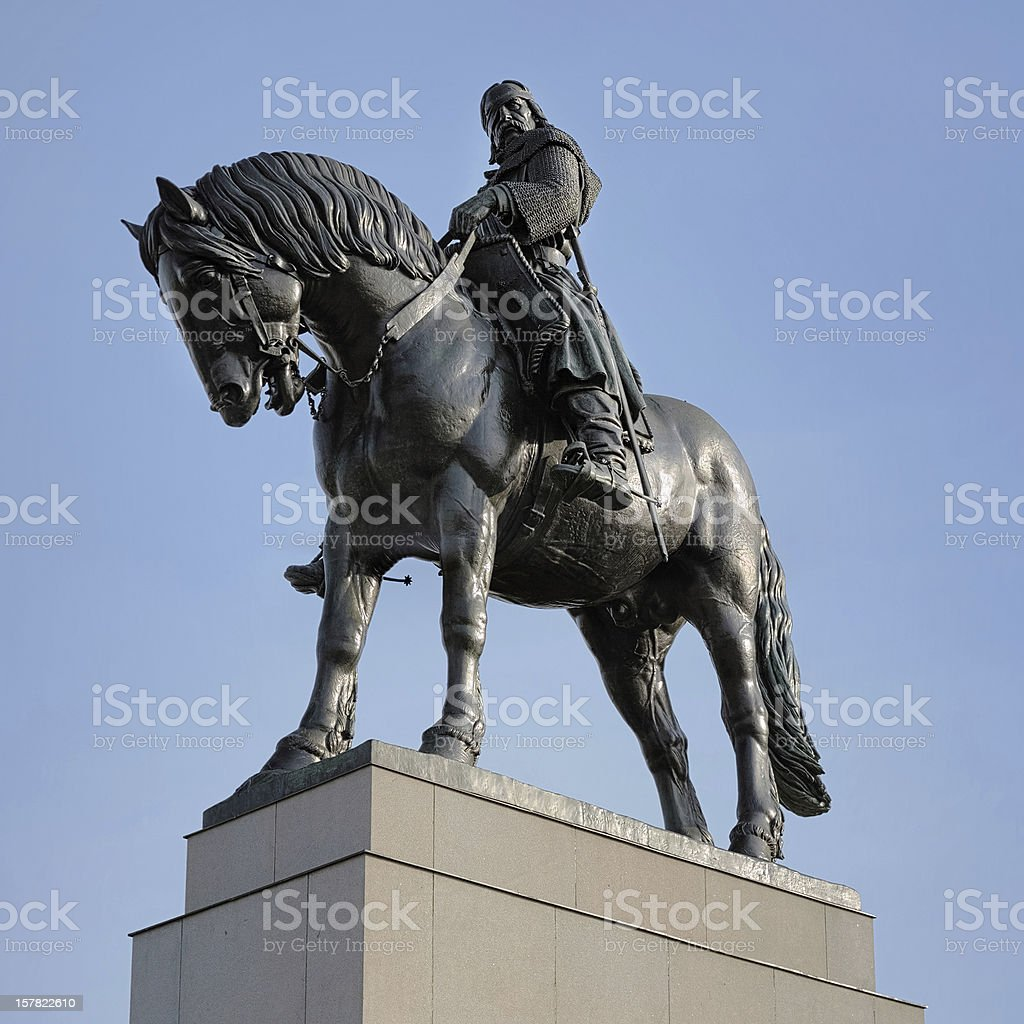 Equestrian statue of Jan Zizka in Prague, Czech Republic stock photo