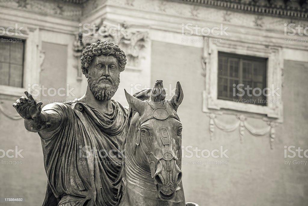 Equestrian Statue of Marcus Aurelius royalty-free stock photo