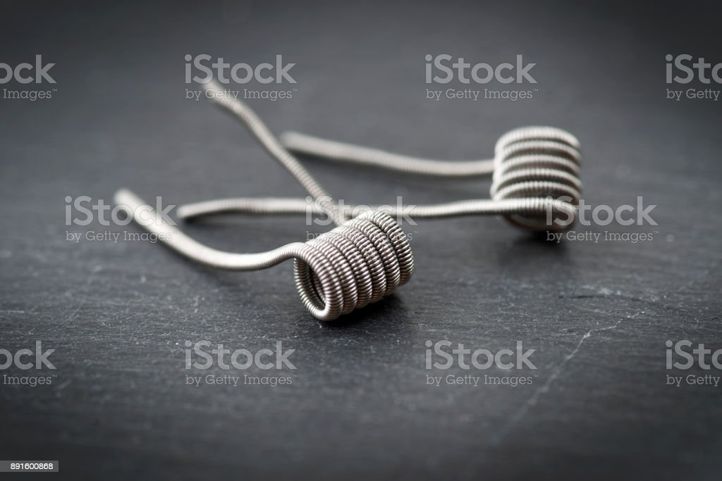 equipment about the electronic cigarette stock photo