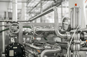 istock equipment at the milk factory 1069886808