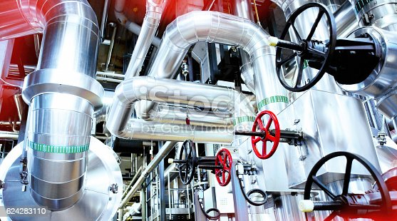 istock Equipment, cables and piping 624283110