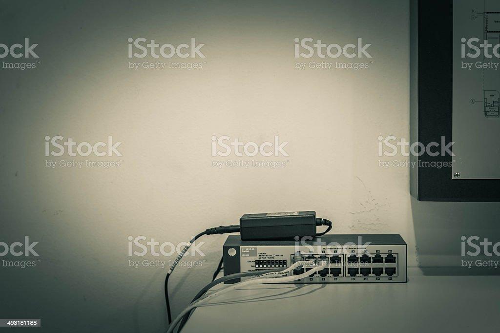 Ausstattung mit einem computer. – Foto