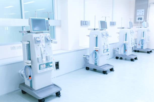 Equipment Dialysis machines stock photo