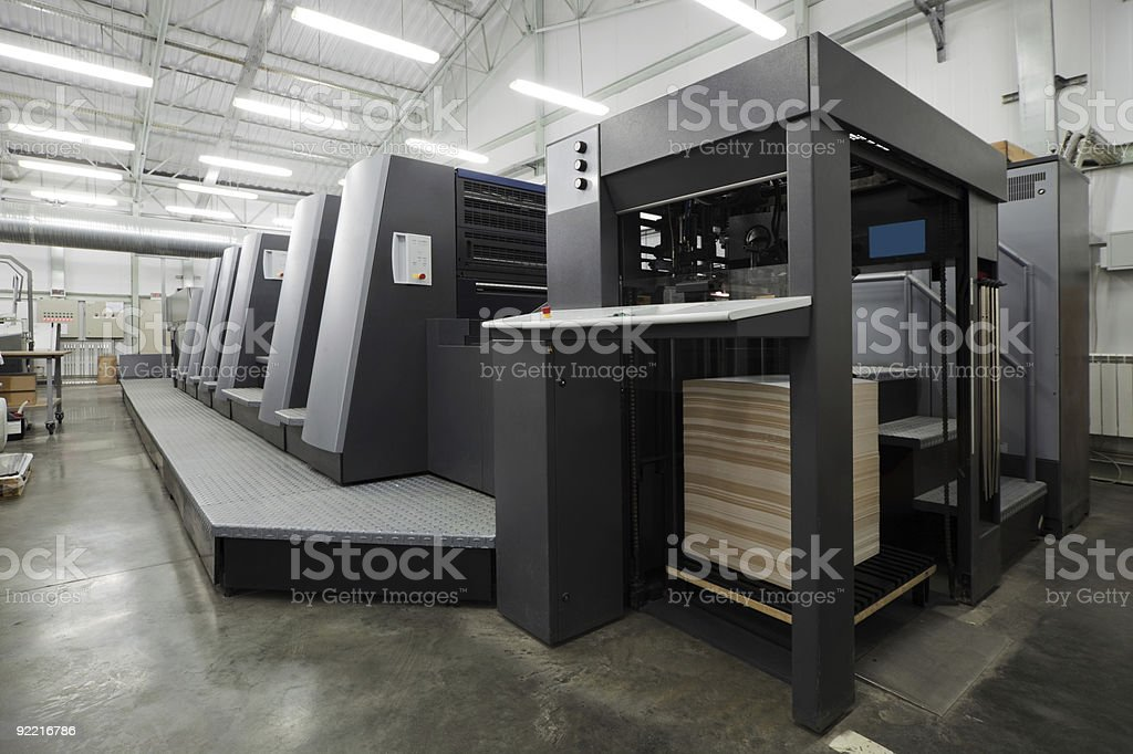 equipment for a press royalty-free stock photo