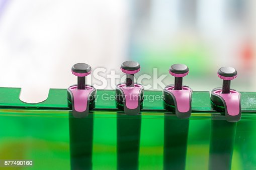 680508160 istock photo Equipment for analyze samples bacteria into the agarose gel and for the separation of DNA fragments in Laboratory. 877490160