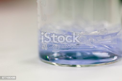 680508160 istock photo Equipment for analyze samples bacteria into the agarose gel and for the separation of DNA fragments in Laboratory. 877490496