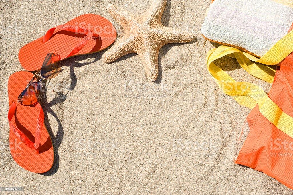 Equipment for beach stock photo