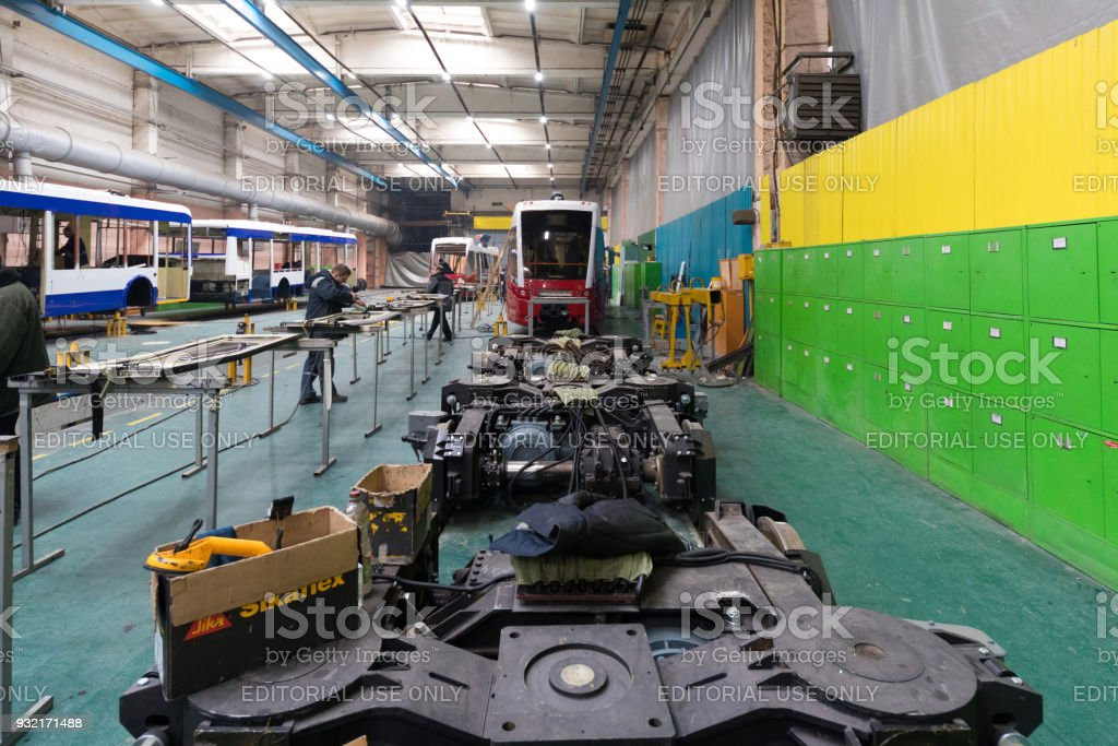 Belcommunmash factory, One working day of modern automatic bus...