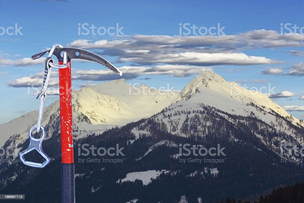 equipment for climbing the summit royalty-free stock photo