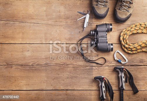 istock Equipment for hiking 475702442