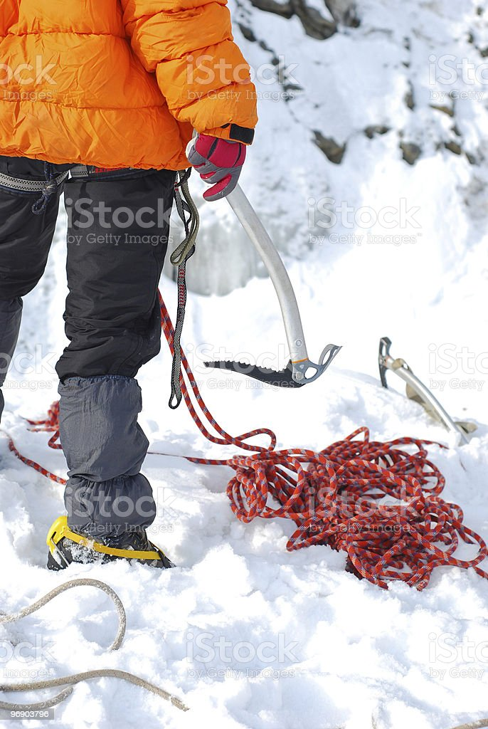 Equipment for ice climbing royalty-free stock photo