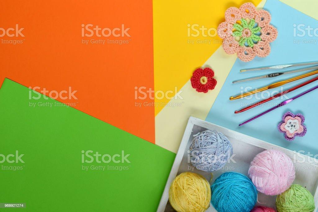 Apparatuur Voor Breien En Hakenhaak Kleurrijke Regenboog Katoen