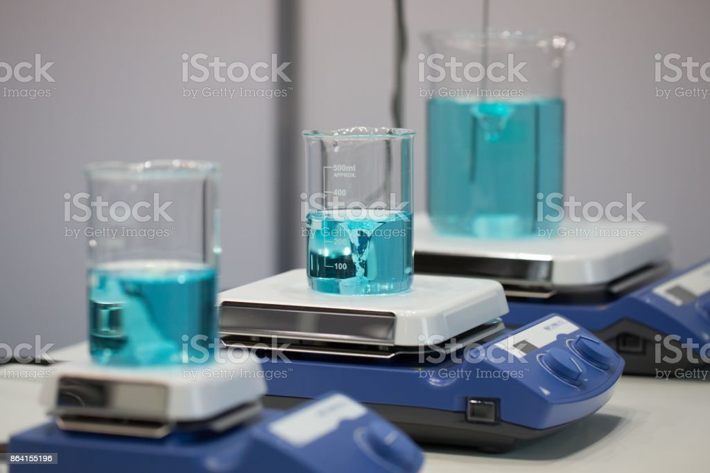 Equipment for medical laboratories. Magnetic stirrer. royalty-free stock photo