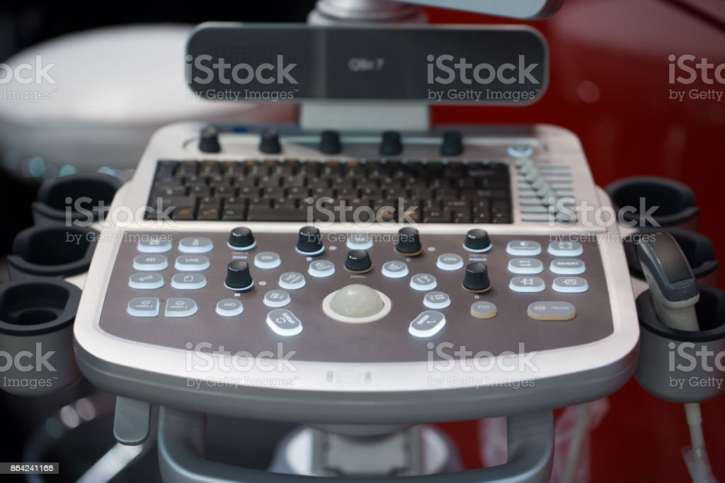 Equipment for medical laboratories, ultrasound diagnostics. royalty-free stock photo