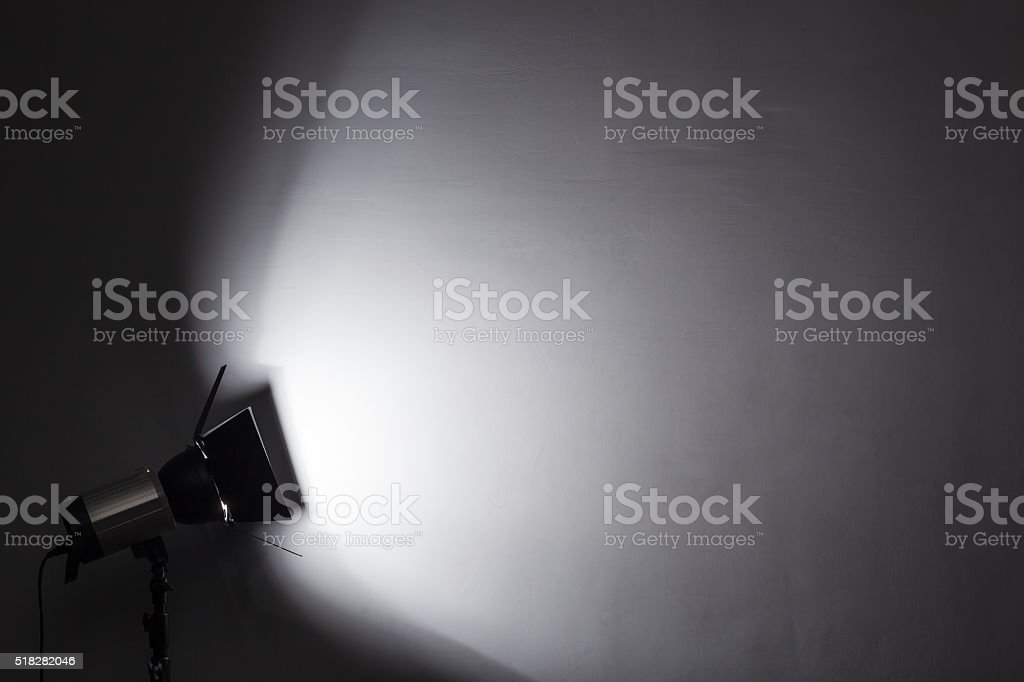Equipment for photo studios and fashion photography. Background stock photo