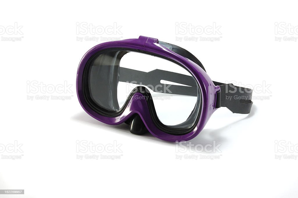 Equipment for snorkeling - diving mask on white background stock photo