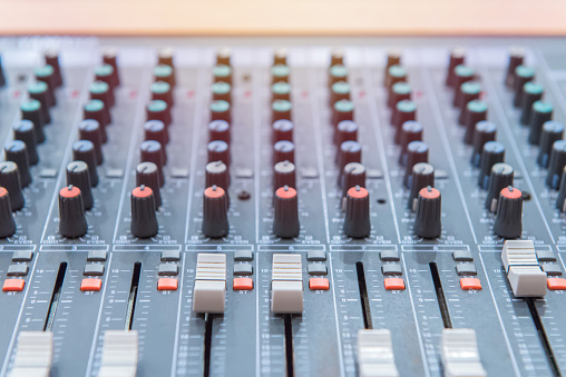 equipment for sound mixer control, electronic device