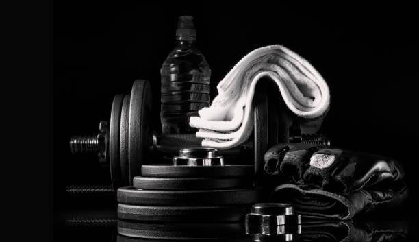 Equipment for strength training. stock photo