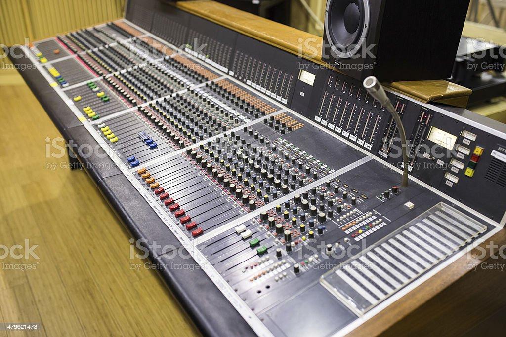 equipment in audio recording studio