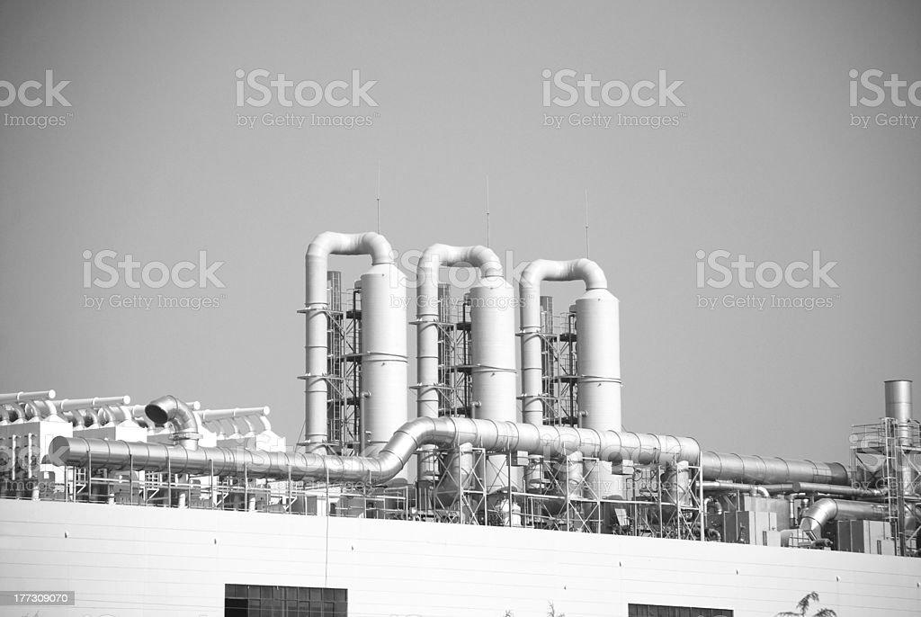 equipment in factory stock photo